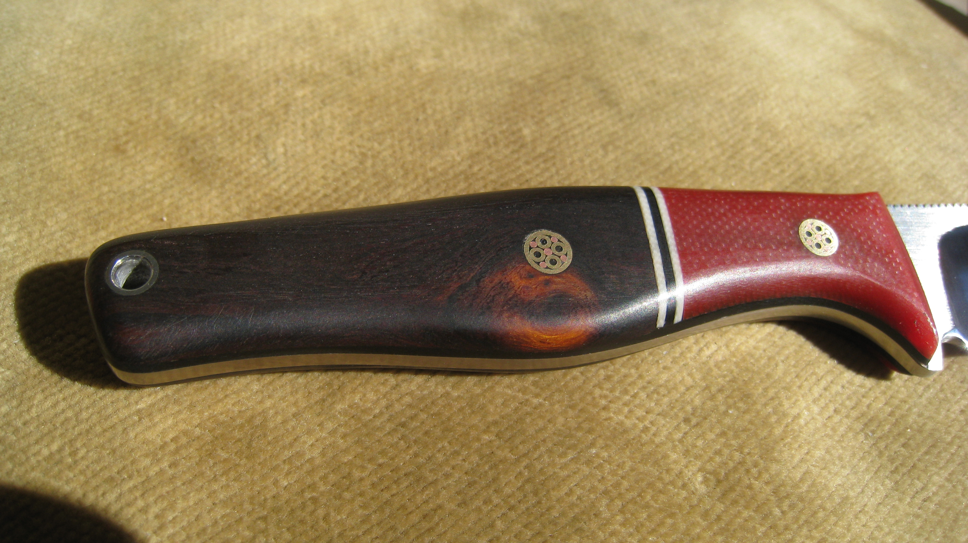 petite 3 blade edc necker in d2 ironwood ad knives. Black Bedroom Furniture Sets. Home Design Ideas